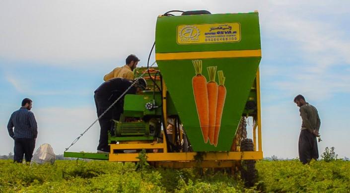 دستگاه برداشت هویج